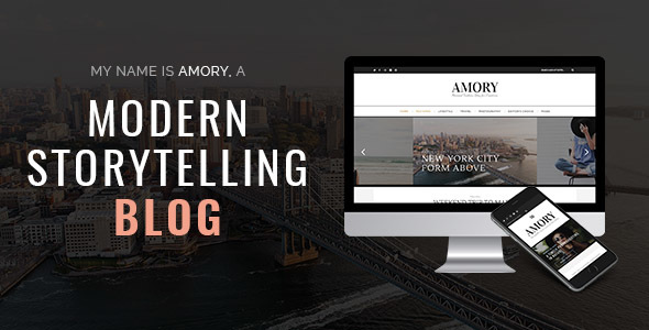 Amory Blog – A Responsive WordPress Blog Theme