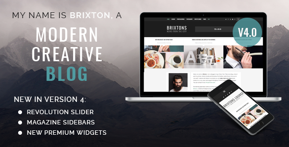 Brixton Blog - A Responsive WordPress Blog Theme - Personal Blog / Magazine