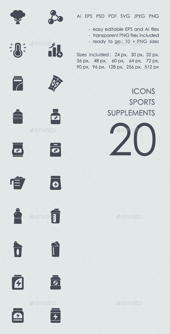 Sports supplements icons - Abstract Icons