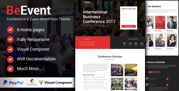 BeEvent – Conference & Event WordPress Theme