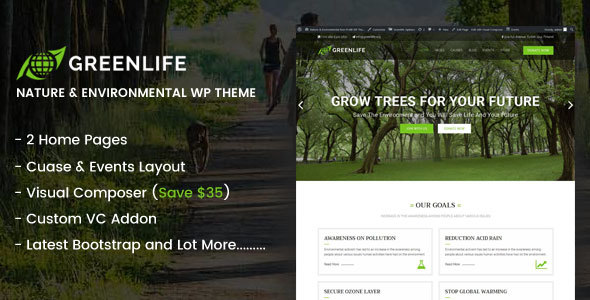 Greenlife – Nature & Environmental WP theme
