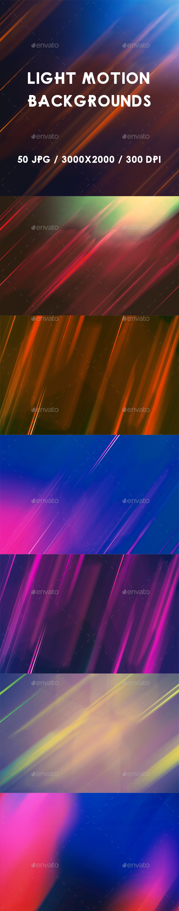 50 Light Motion Backgrounds - Abstract Backgrounds