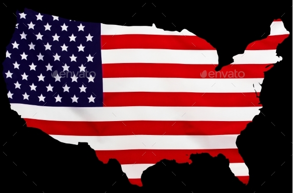 USA Flag in the Form of Maps of the United States - Objects Illustrations