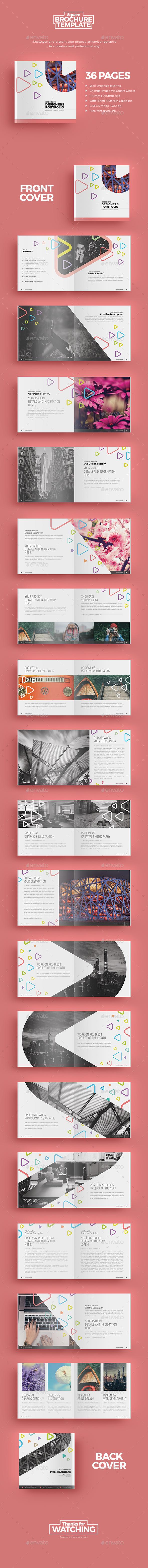 Square Brochure 3 - Brochures Print Templates