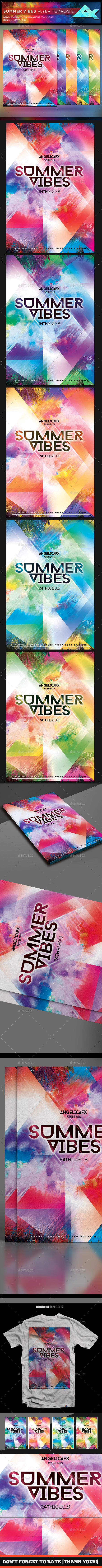 Summer Vibes Flyer Template - Flyers Print Templates