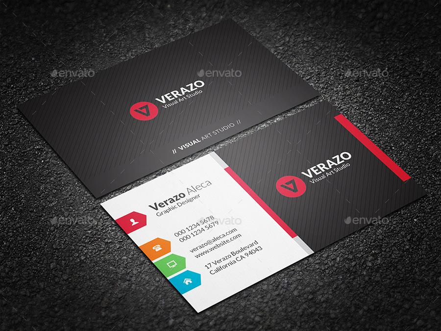 Multicolor Corporate Business Card Template By Verazo Graphicriver