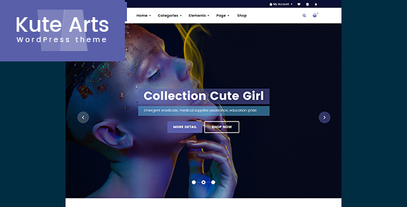 Kute Arts – Shop WooCommerce WordPress Theme
