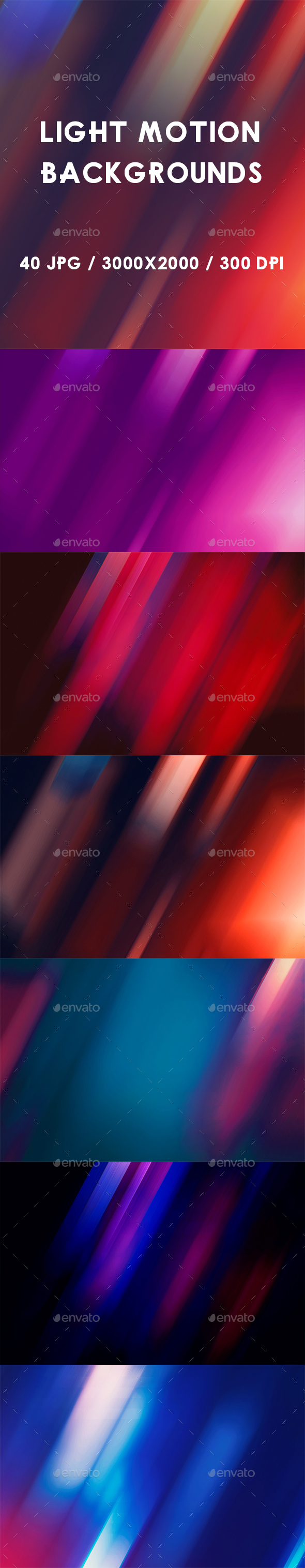 40 Light Motion Backgrounds - Abstract Backgrounds