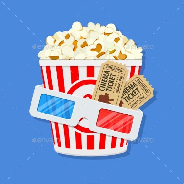 Cinema and Movie Time - Decorative Symbols Decorative