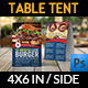 Burger Restaurant Table Tent Template Vol.3 - GraphicRiver Item for Sale