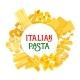 Italian Pasta and Spaghetti Vector Poster
