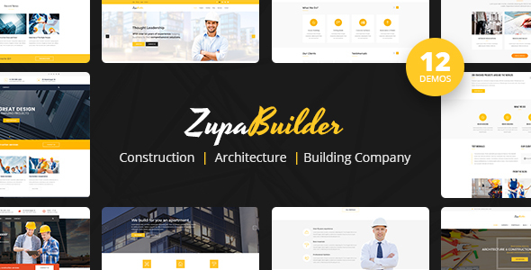 ZupaBuilder - Construction, Architecture, Building Company - Business Corporate