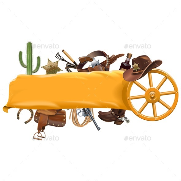 Vector Cowboy Banner - Miscellaneous Vectors