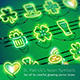 St. Patrick's Neon Icons - GraphicRiver Item for Sale