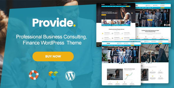 Provide – Professional Business Consulting, Finance WordPress Theme