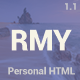 RESUMY - Personal HTML Template - ThemeForest Item for Sale