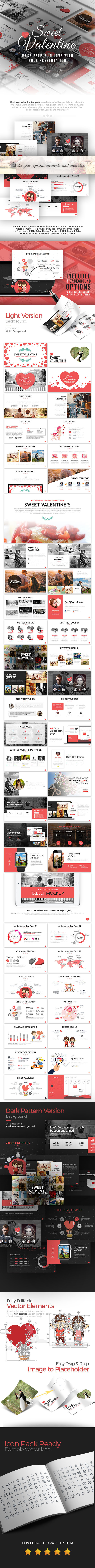 Sweet Valentine Powerpoint Template - Business PowerPoint Templates