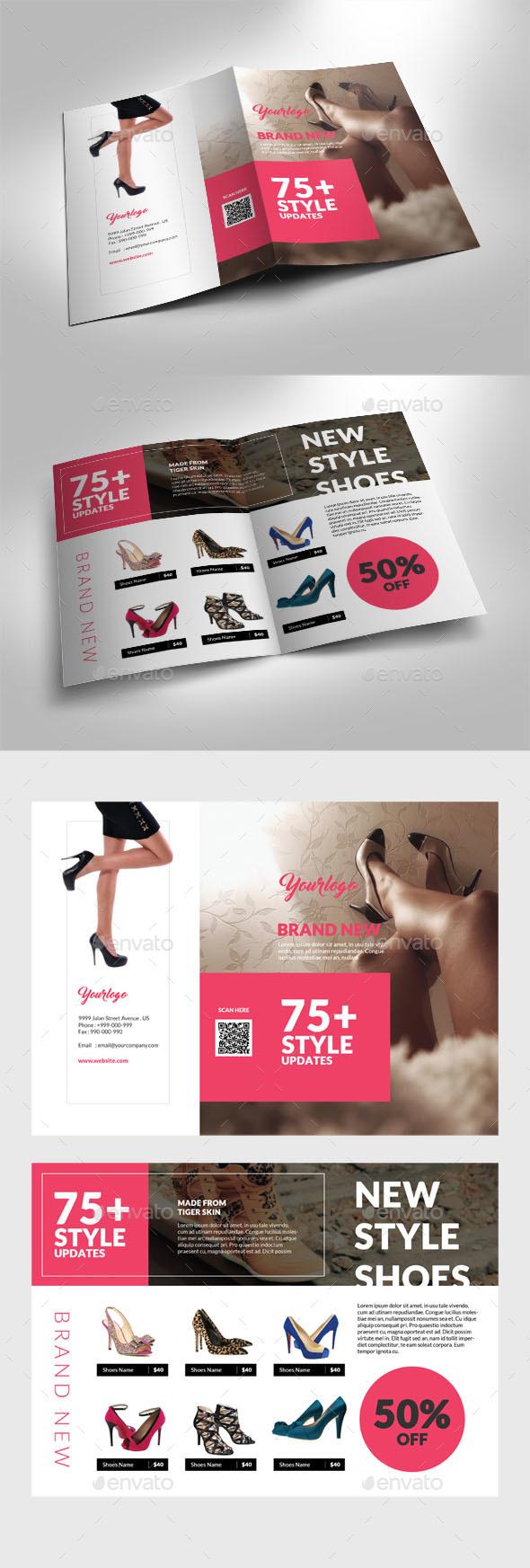 Fashion Shoes Bifold Brochure - Catalogs Brochures