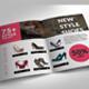 Fashion Shoes Bifold Brochure