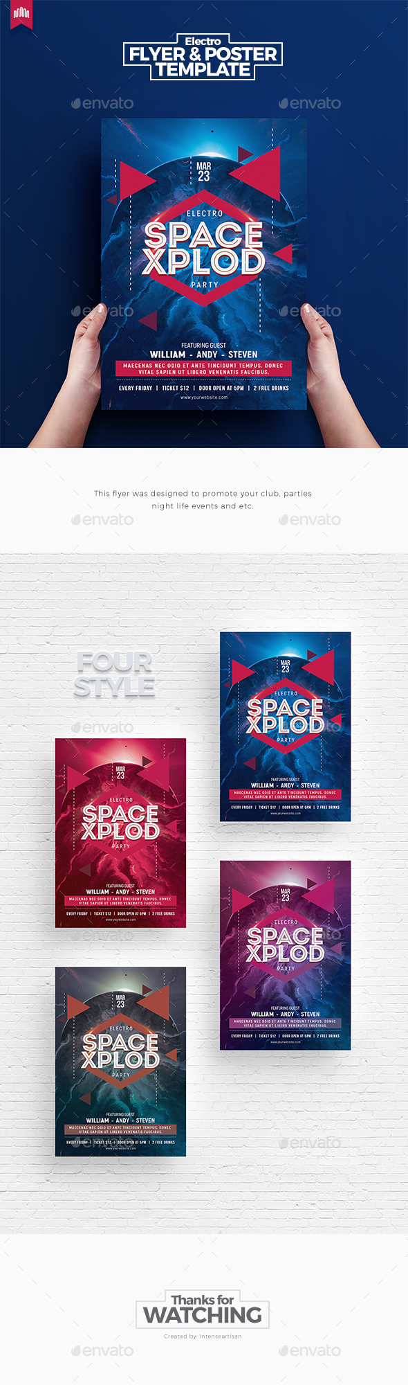 Space Xplod - Flyer Template - Clubs & Parties Events