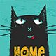 Home Is Where The Cat Is Funny Quote Poster - GraphicRiver Item for Sale