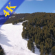 Skiers and Ski Slope in the Mountains - VideoHive Item for Sale