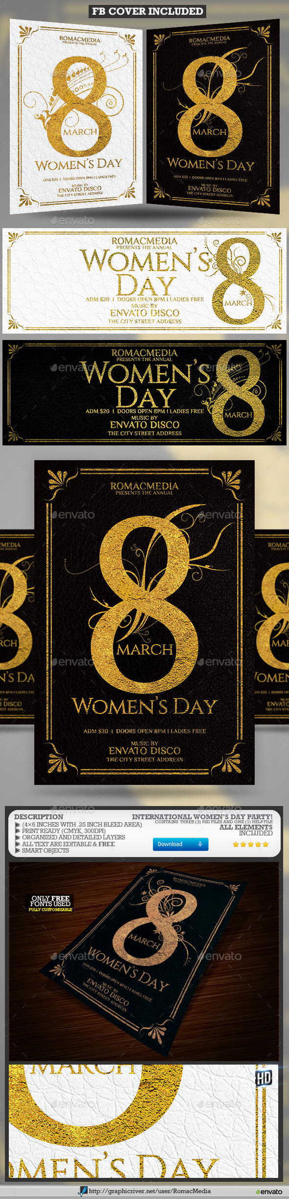 Women's Day Flyer - Clubs & Parties Events