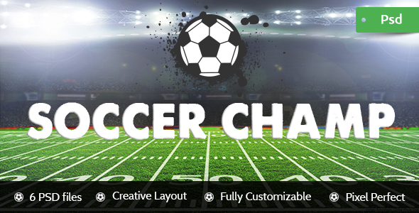Football Champ - Football Club Psd Template - Entertainment PSD Templates