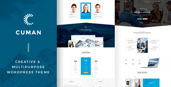CUMAN — Creative & Multipurpose WordPress Theme