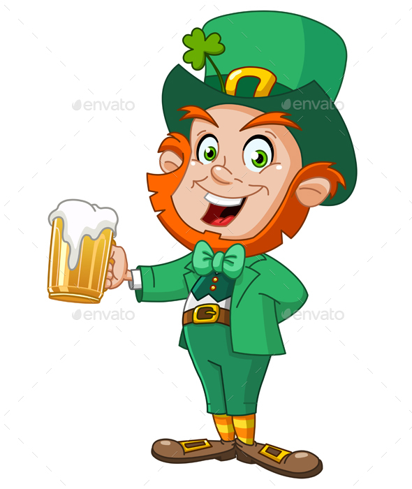 Leprechaun with Beer - Miscellaneous Seasons/Holidays