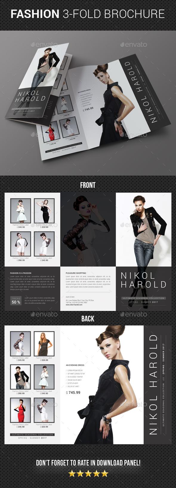 Fashion 3-Fold Brochure 19 - Brochures Print Templates