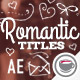 Romantic Collection Hand-drawn Titles - VideoHive Item for Sale