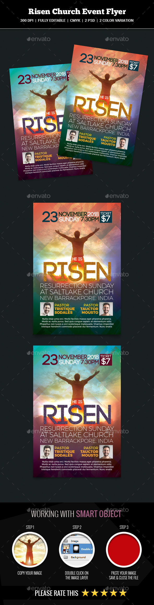 Risen Church Event Flyer - Church Flyers