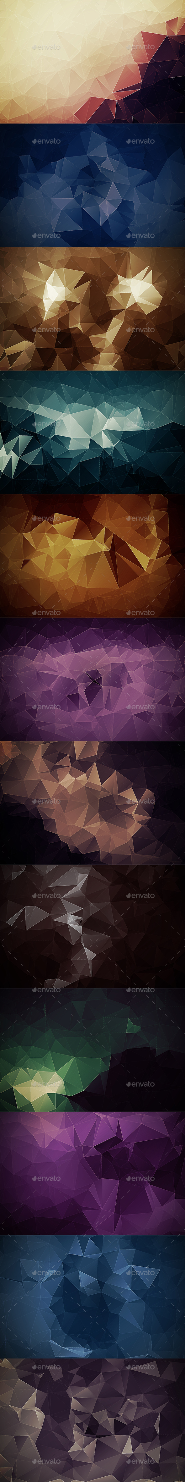 Abstract Polygonal Backgrounds Vol8 - Abstract Backgrounds