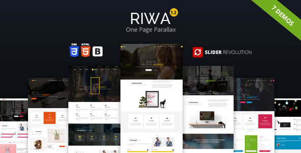 Riwa - One Page Parallax - Creative Site Templates