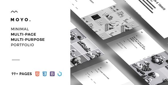 MOYO – Minimal Multi-Page & Multi-Purpose Portfolio