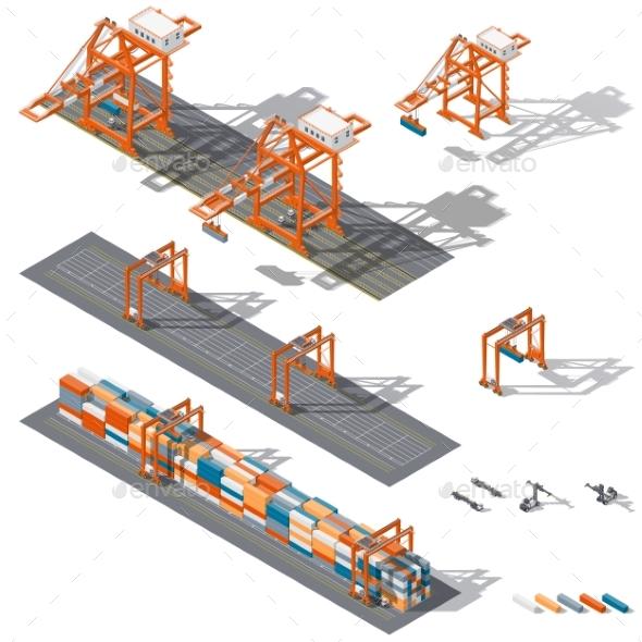 Sea Container Terminal - Miscellaneous Vectors