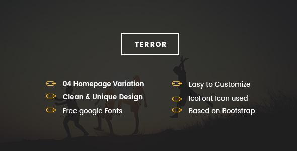 TERROR - Coming Soon PSD Template - PSD Templates