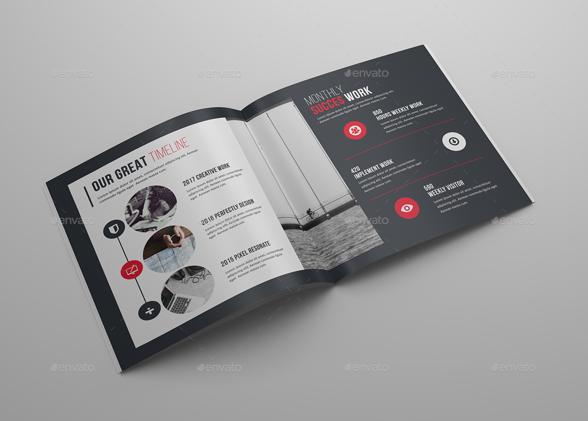 Creative Square Bi Fold Brochure Template By Generousart Graphicriver