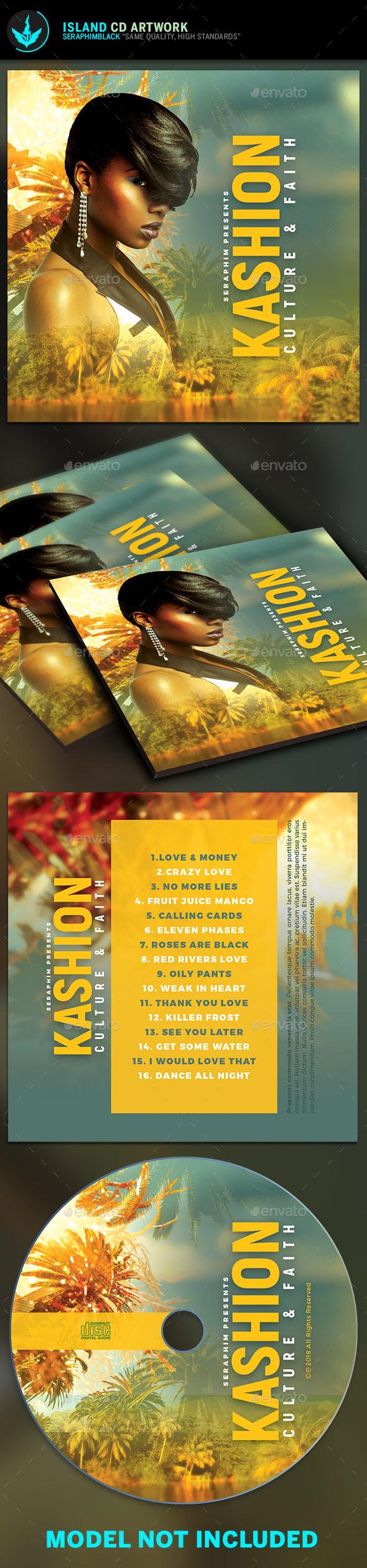 Tropical CD Artwork Template - CD & DVD Artwork Print Templates