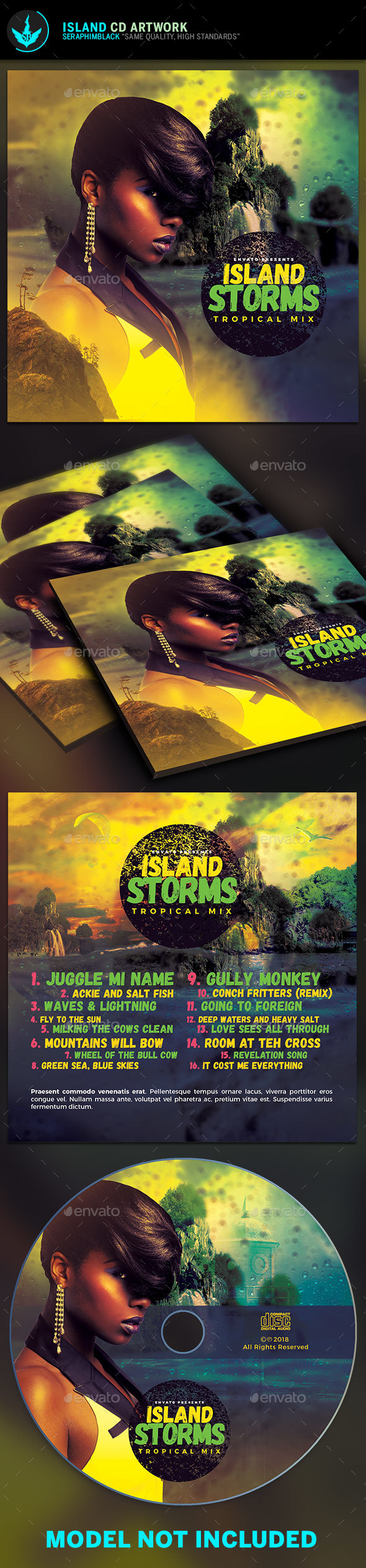 Island CD Artwork Template - CD & DVD Artwork Print Templates