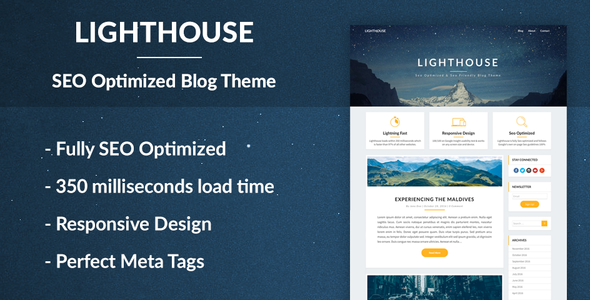 Lighthouse Blogger – SEO Optimized and SEO Friendly WordPress Blog Theme for Blogging