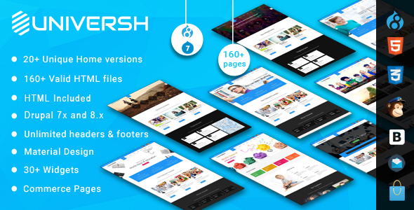 Universh - MultiPurpose Drupal 7 - 8 Theme - Corporate Drupal