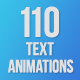110 Text Animations - VideoHive Item for Sale