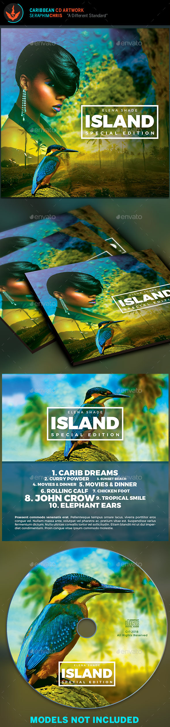 Caribbean CD Artwork Template - CD & DVD Artwork Print Templates