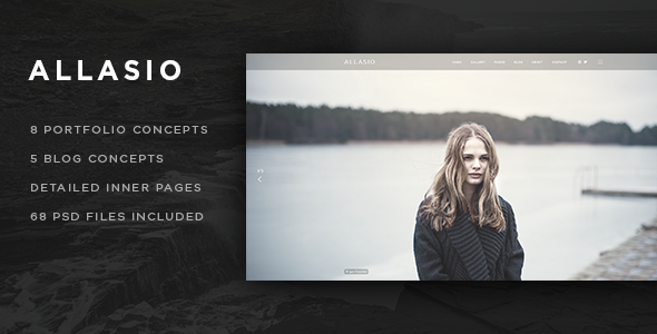 Allasio – An Exquisite Photography and Lifestyle Blog Template