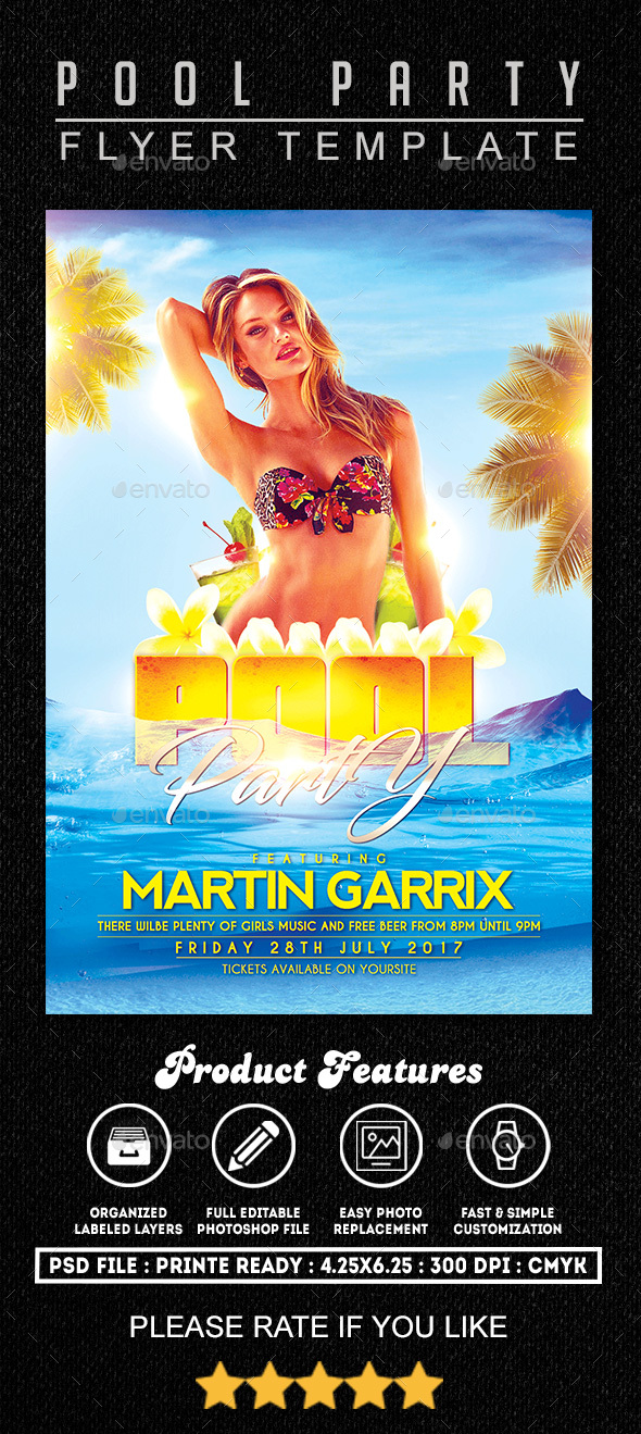 Pool Party Flyer Template By Fasdesigner | Graphicriver