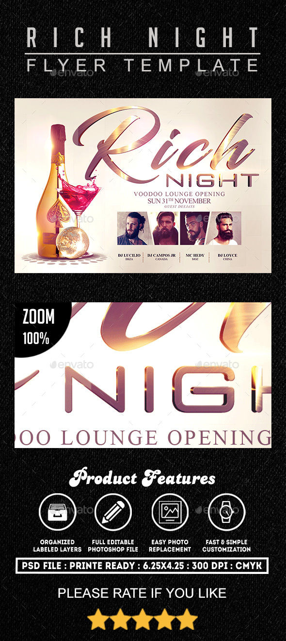 Rich Night Flyer Template - Clubs & Parties Events