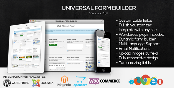 Universal Form Builder by SoftDiscover | CodeCanyon