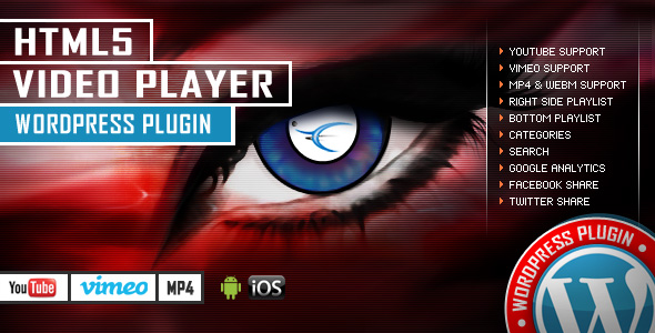 HTML5 Video Player Wordpress Plugin - YouTube/Vimeo/MP4 - Right Side and Bottom Playlist - CodeCanyon Item for Sale